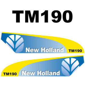 Details About New Holland Tm190 Tractor Decal Aufkleber Adesivo Sticker Set