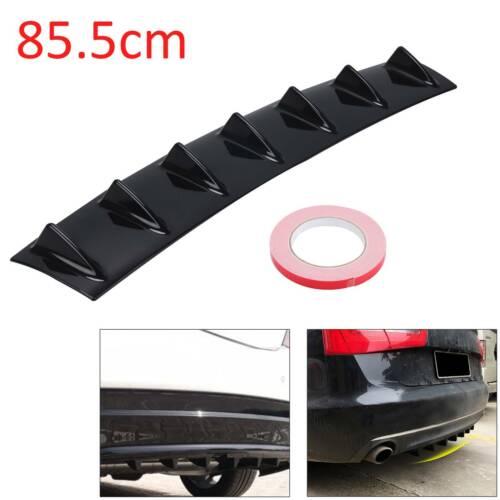 Universal Lower Rear Body Bumper Diffuser Shark 5 Fin Kit PU Spoiler Black Gloss