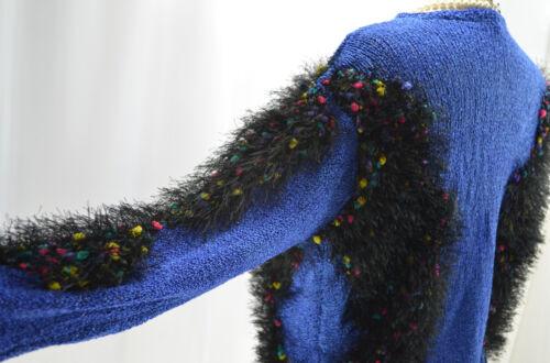 Nouveau Designer Fringe Shaggy Top Sz Pull Shabby M Pull Bouncle Tricot en Silky L qwpH6qfC