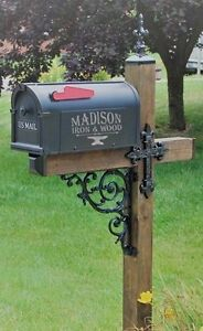 Cross Mailbox Dress Up Kit Wrought Iron Unique Mailbox Post Fleur