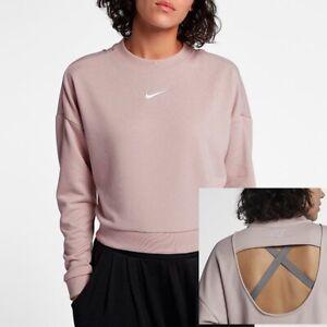 Xs Pull Nike Femmes Col Rose Particule Molletonn Rond Court IvgUqvPf