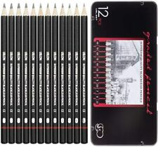 14Pcs Sketch Pencils Set Sketching Drawing Graphite Pencil Art Charcoal U3F2