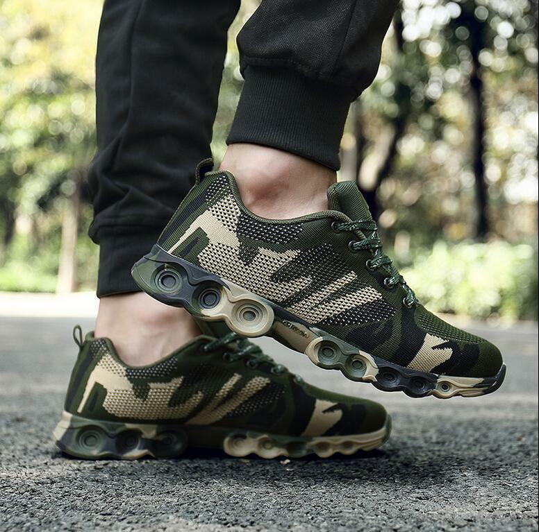 Men's sports Sneakers shoes Outdoor Camo Breathable Casual Athletic Running