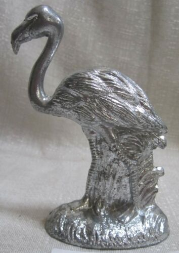 """50/'S style Flamingo bottle opener in a sanded aluminum 4-1//2/"""" tall USA"""