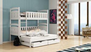Etagenbett Für 3 Personen : Etagenbett hochbett ola für personen inkl matratzen teilbar