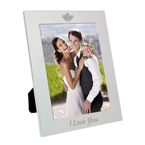 I Love You Engraved Hearts 5x7 Photo Frame Gift For Him And Her
