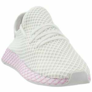 Details about adidas Deerupt Runner Casual Running Shoes - White - Womens