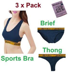 Modaleo Women's Sports Bra, Brief, Thong Women Running Bra Swimming Bra 3 Pack