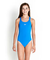 NEW SPEEDO GIRLS MEDALIST ENDURANCE+ BLUE SWIMSUIT/SWIMMING COSTUME 07282610
