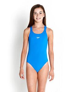 Speedo Girls Swimsuitnew Medalist Endurance Blue Swimming Costume