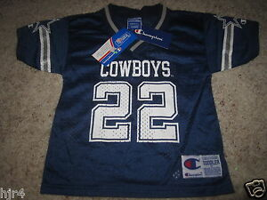 reputable site 6dcb3 f7b7e Details about Emmit Smith #22 Dallas Cowboys champion NFL Jersey Toddler 3T  NEW