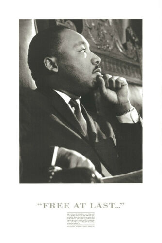 PHOTO ART PRINT Martin Luther King Free at Last 36x24 African American Poster