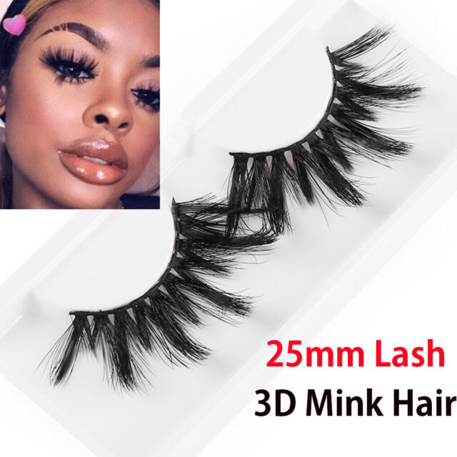 844f873fea3 SKONHED 1 Pair 3D Mink Hair False Eyelashes Wispy Long Eye Lashes Extension  Hot