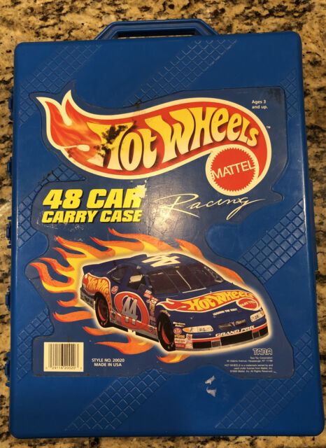 Vintage 1998 Mattel Hot Wheels 48 Car Carry Storage Case By Tara - CARS INCLUDED