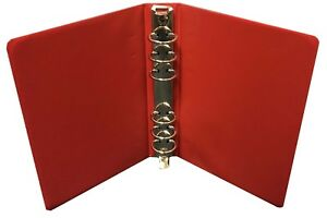 Details about 6 Ring Mini Binder for 4x6 5 Stamp Dealer Sales Pages Red  Durable Free Shipping