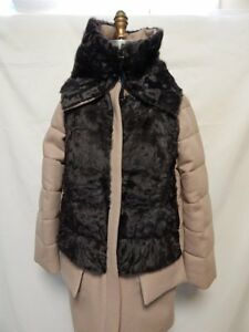 Moncler-Robinier-Wool-Coat-Front-Fur-Vest-Size-2-Med-Beige-NWT-100-Authentic