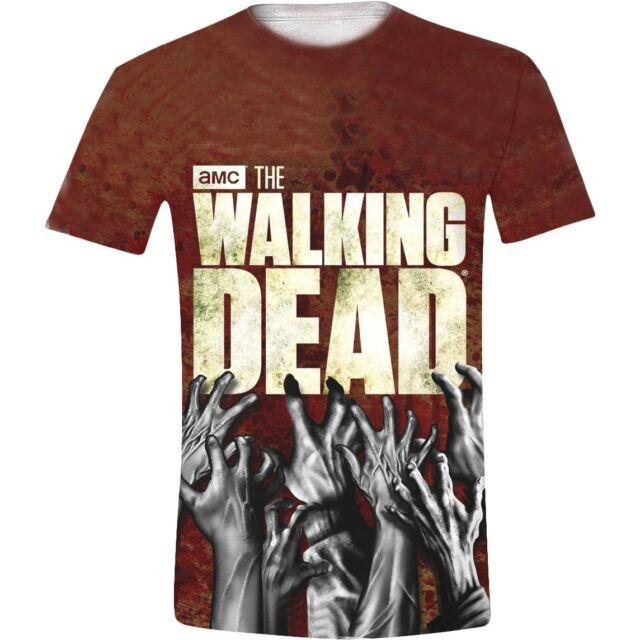 Walking Dead - Hands Logo Full Printed T-Shirt Unisex Tg. M TIMECITY