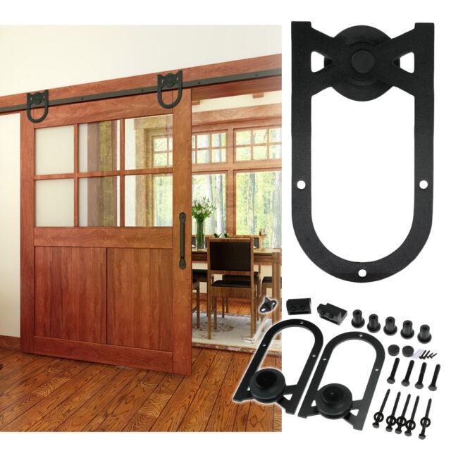 6 Ft Sliding Barn Door Hardware Kit Track System Closet Antique