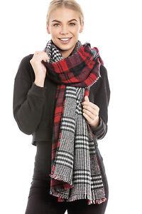 Central-Chic-Women-039-s-Large-Long-Tartan-Scarf-Shawl-Wrap-Fast-Dispatch-UK-Seller