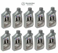 Mobil 10-liters Set Of 10 Formula M; 5w-40; Mb Spec 229.5 Genuine