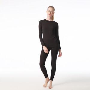 Jasmine-silk-Donna-039-Modale-Termico-Maniche-Lunghe-Top