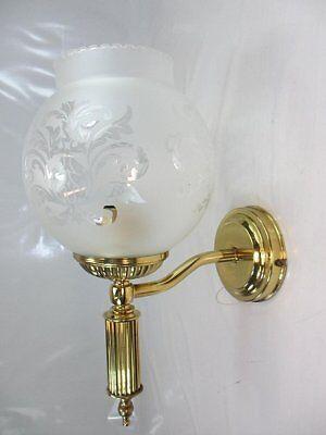 Vintage Messing Wandlampe Antik Stil Wandleuchte Satiniert