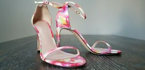 Stuart-Weitzman-Pink-Patent-Leather-Ankle-Strap-Sandals-8-M-US-New-Without-Box