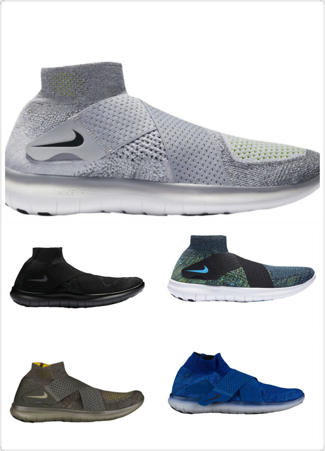 a632ecf67af Nike Free RN Motion FK 2017 Flyknit Mens Mens Mens Running Shoes Multi  color Multi size 6d0104