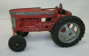 Vintage-Hubley-Red-Toy-Tractor