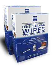 Zeiss 2 Boxes Lens Cleaner Glasses Cloth Wipes Packets 400 ct