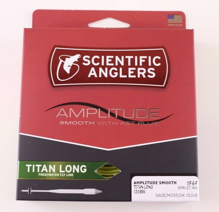 Scientific Anglers Amplitude Smooth Titan Long WF8F Fly Line Free Fast Shipping