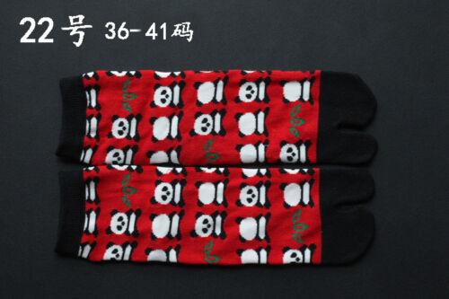 Men Women Split Two Toe Ankle Socks Japanese Animal Print Kawaii Tabi Flip Flop