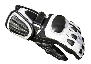 Baby-Biker-Kids-Childrens-Minimoto-Motorcycle-Racing-Leather-G-304-Glove-White-T