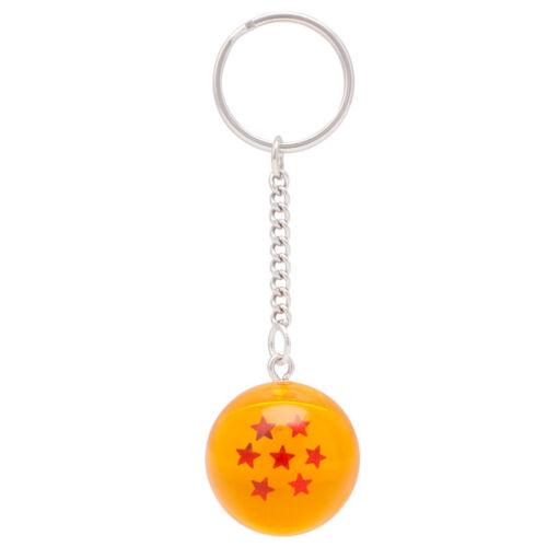 Fashion Keychain Anime Dragon Ball Cosplay Crystal Ball Stars Pendant Keyring