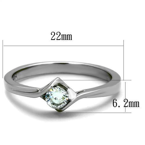 204 .25CT SIMULATED DIAMOND STAINLESS STEEL ENGAGEMENT RING SOLITAIRE CLEAR
