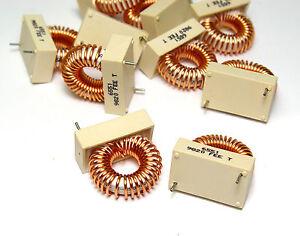 10x Ringkern-Drossel 80 µH, 22 mOhm f. Netzfilter, Verstärker ...
