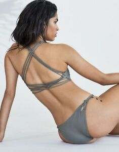 053366fea6 Image is loading Acacia-Swimwear-Nusa-Bikini-Bottom-in-Cement-NWT-