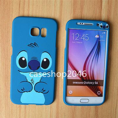 Cartoon cute disney blue stitch fullbody cover case for samsung galaxy S7 note4