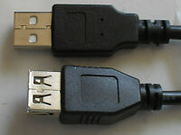 3Ft USB 2.0 Extention Cable Type A-Male to Female  Black  17404
