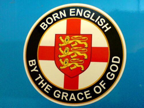 BORN ENGLISH Van Car Bumper Caravan Camper Sticker Decal 1 off 90mm