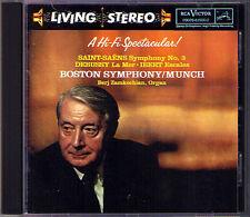 Charles MUNCH: SAINT-SAENS Symphony 3 DEBUSSY La Mer IBERT RCA Living Stereo CD