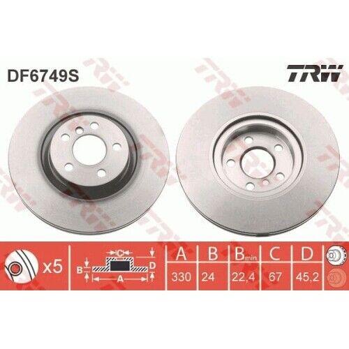 2x Bremsscheibe Bremse NEU TRW DF6749S