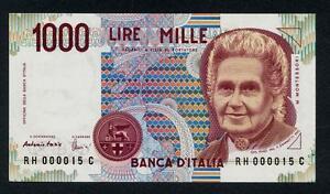 1000 Lire Montessori 1990 Sr. 000015 Numéros Basses Fds 4gch0jvg-08005707-269435970