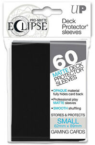 60-Ultra-Pro-Matte-ECLIPSE-BLACK-Small-Mini-Deck-Protector-Card-Sleeves-85386