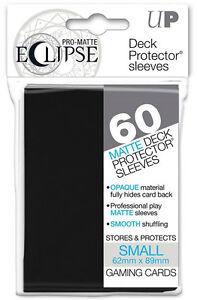 60-1pk-Ultra-Pro-Matte-ECLIPSE-BLACK-Small-Mini-Deck-Protector-Card-Sleeve-85386