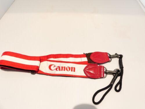 SEMI WIDE CAMERA STRAP FOR CANON CAMERA VINTAGE RETRO WHITE//RED 16