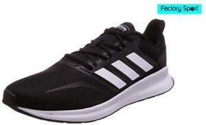 Detalles de Adidas Runfalcon K negro blanco Zapatillas deportivas running  para Mujer