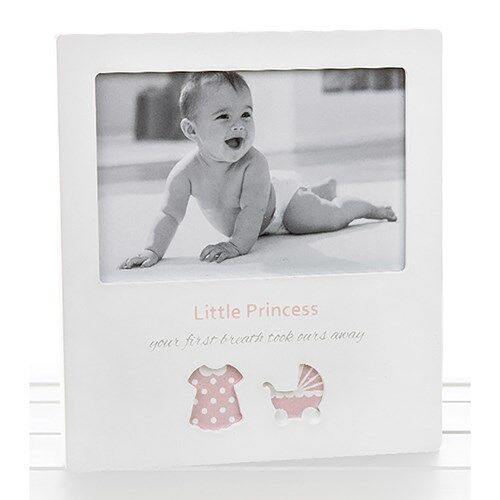 NEW Girl Cut Out Frame Little Princess Photo Frame Baby Shower Christening 53564