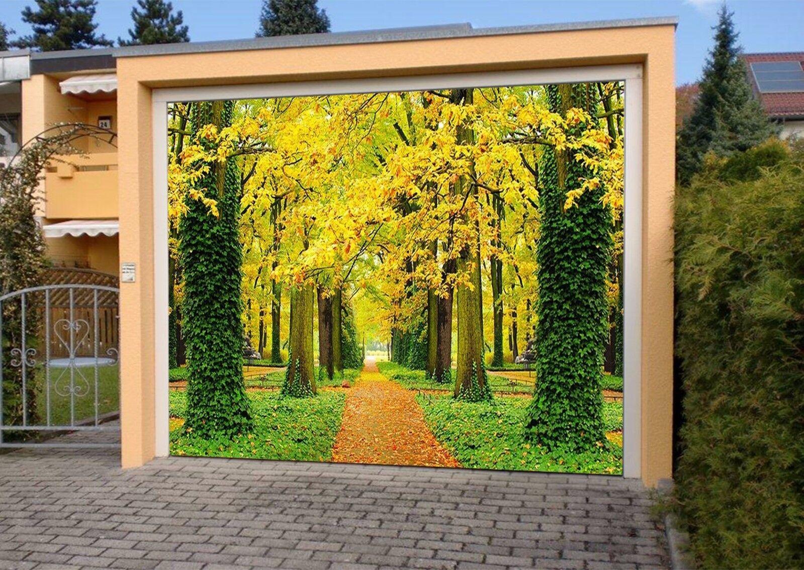 3D Golden Woods 4 Garage Door Murals Wall Print Decal Wall AJ WALLPAPER AU Lemon