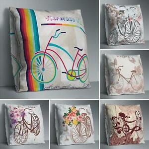 FJ-Bicycle-Flower-Double-sided-Print-Pillow-Case-Cushion-Cover-Sofa-Bedroom-Dec